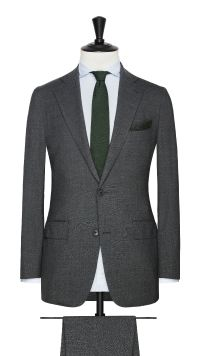 Grey Wool and Silk Stretch  Suit