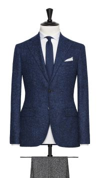 Blue Apalca and Wool Jacket