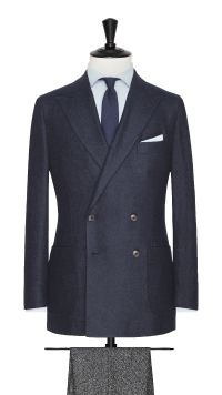 Blue Apalca and Wool Stretch Jacket