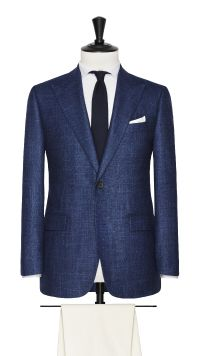 Blue Wool, Silk and Cashmere Jacket