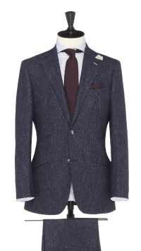 Blue Wool and Linen Suit