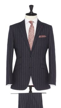 Blue Wool Stripe Suit
