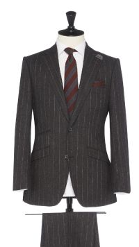 Grey Wool Stripe Suit