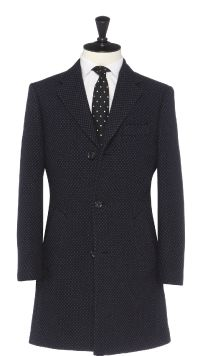 Blue Wool and Cashmere Overcoat