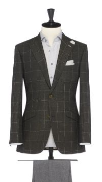 Grey Wool Check Jacket