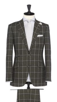Green Wool  Check Suit