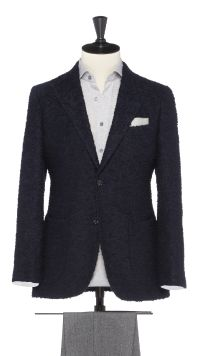 Blue Alpaca and Wool Jacket
