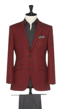Red Wool, Silk and Cashmere Jacket