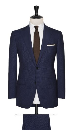 Blue Wool Micro Design Suit