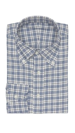 White Blue Check Shirt
