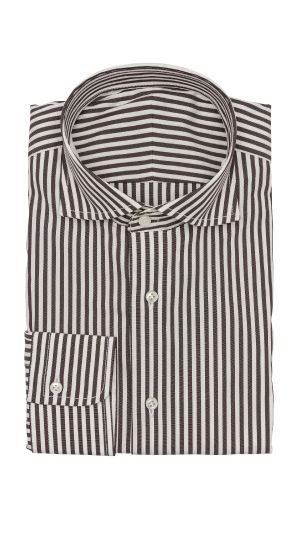 Brown White Stripe Shirt