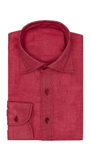 Red Open Weave Shirt