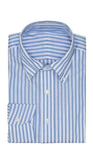 White and Blue Stripe Shirt