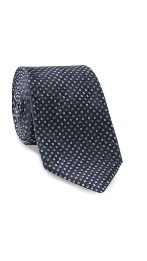 Navy Blue Micro Design Tie
