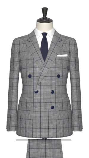 Grey and Blue Check Jacket
