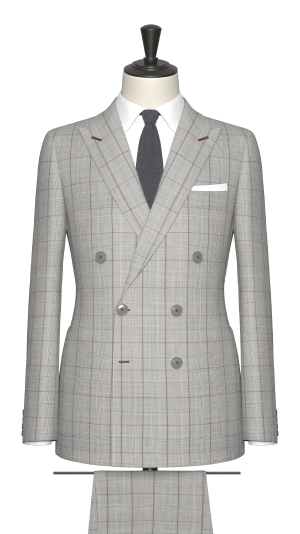 Grey and Red Check Jacket