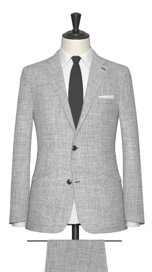 Grey and White Puppytooth Suit