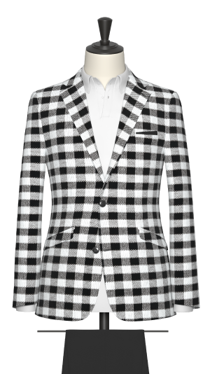 Black and White Check Suit