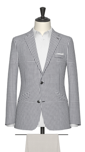 Navy and white houndstooth Jacket