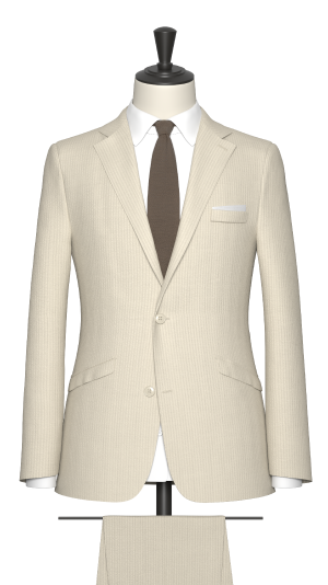Neutral seersucker Suit