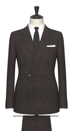 Brown and Blue Check Suit