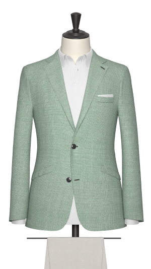 Pale green hopsack Jacket