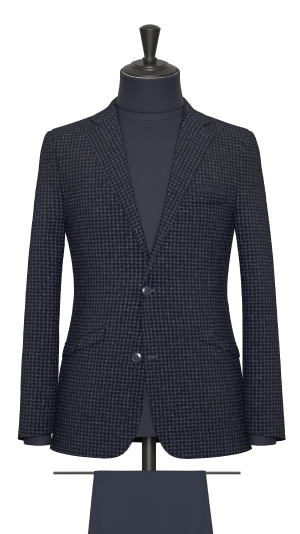Blue and Navy Houndstooth Jacket