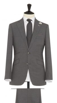 Grey Wool Check Suit