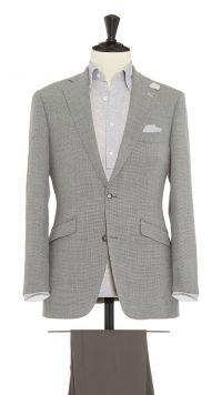 Grey Wool Puppytooth Jacket