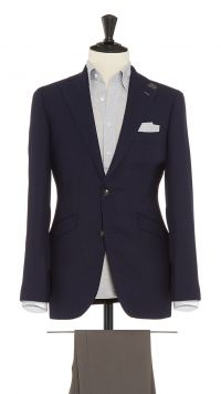 Blue Wool Puppytooth Jacket
