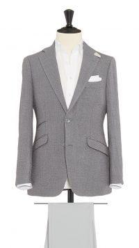 Grey Wool, Silk and Polymide Jacket