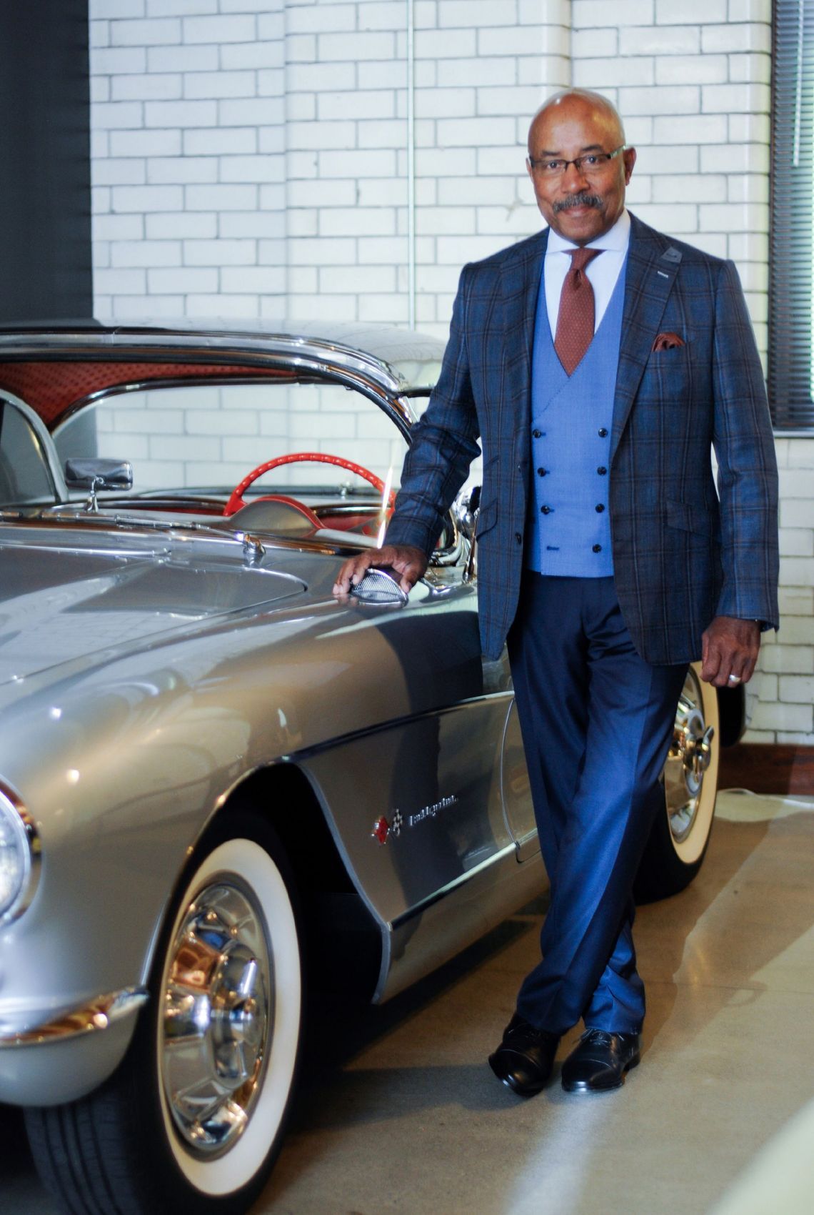 Car Designer Ed Welburn in Clements and Church Bespoke