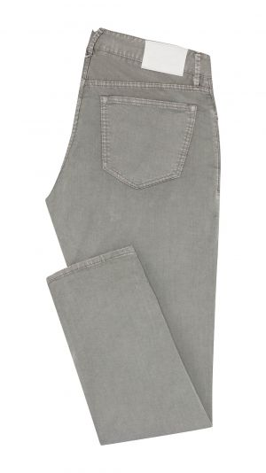 Mid Grey Cotton Jeans