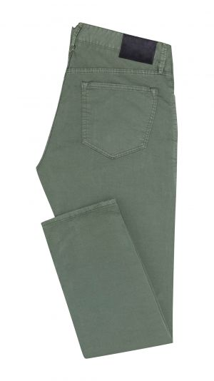 Forest Green Cotton Jeans
