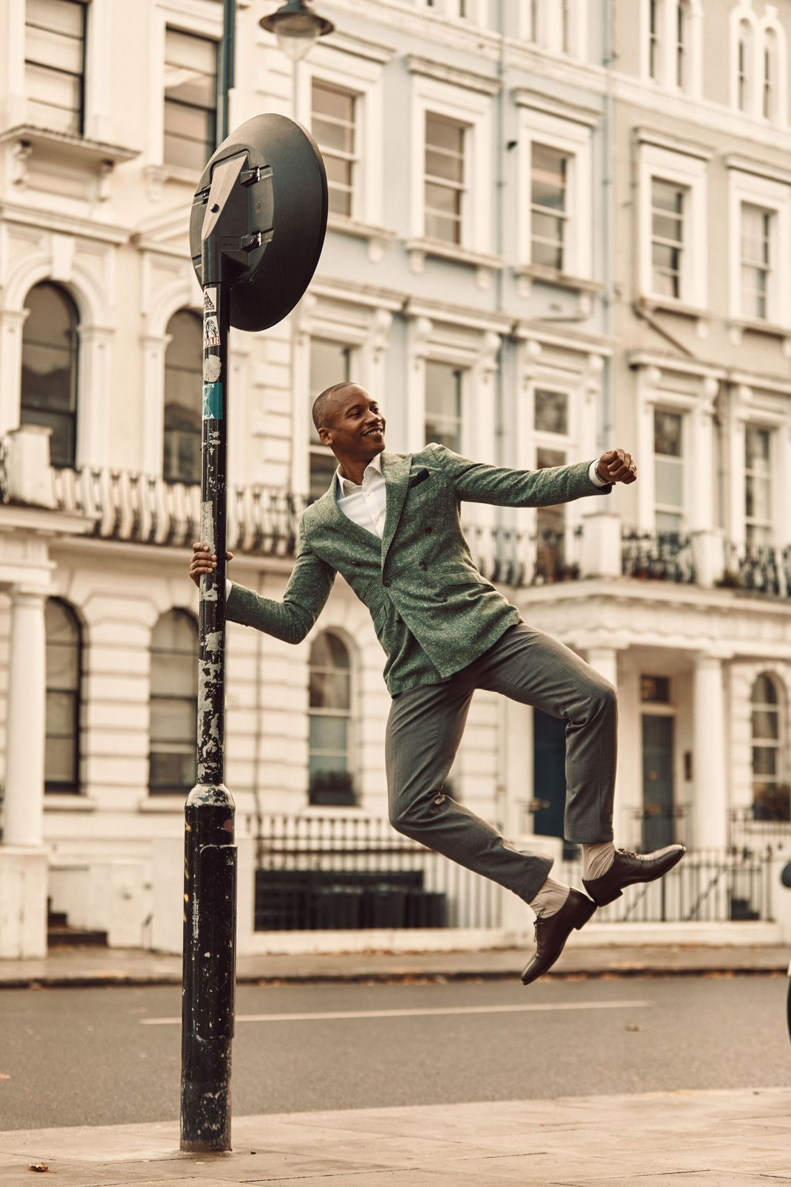 ballet dancer Eric Underwood wears Clements and Church