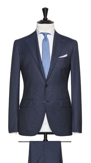 Blue Super 150's Check Suit