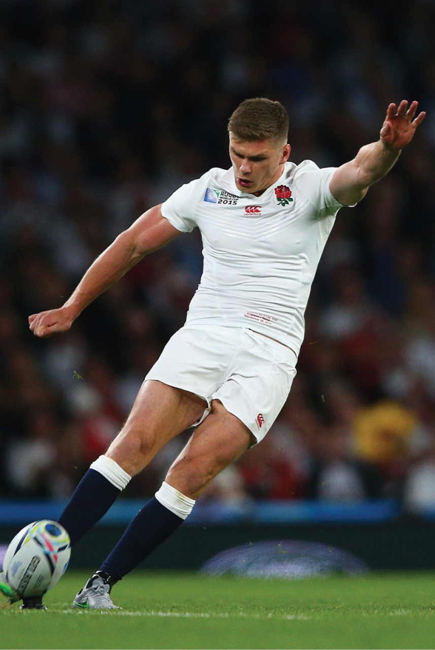 Owen Farrell playing for England