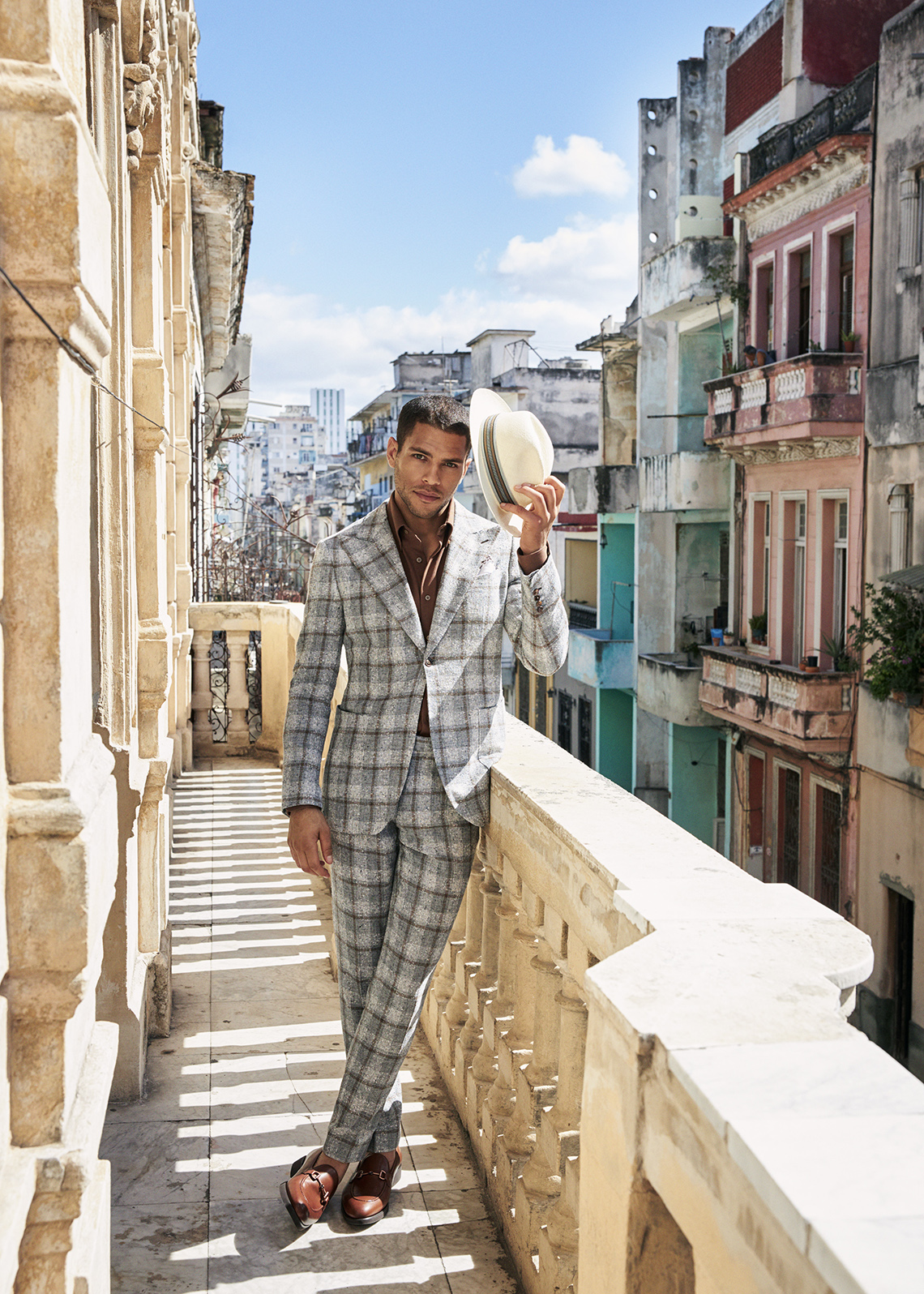 check summer suit by clements and church