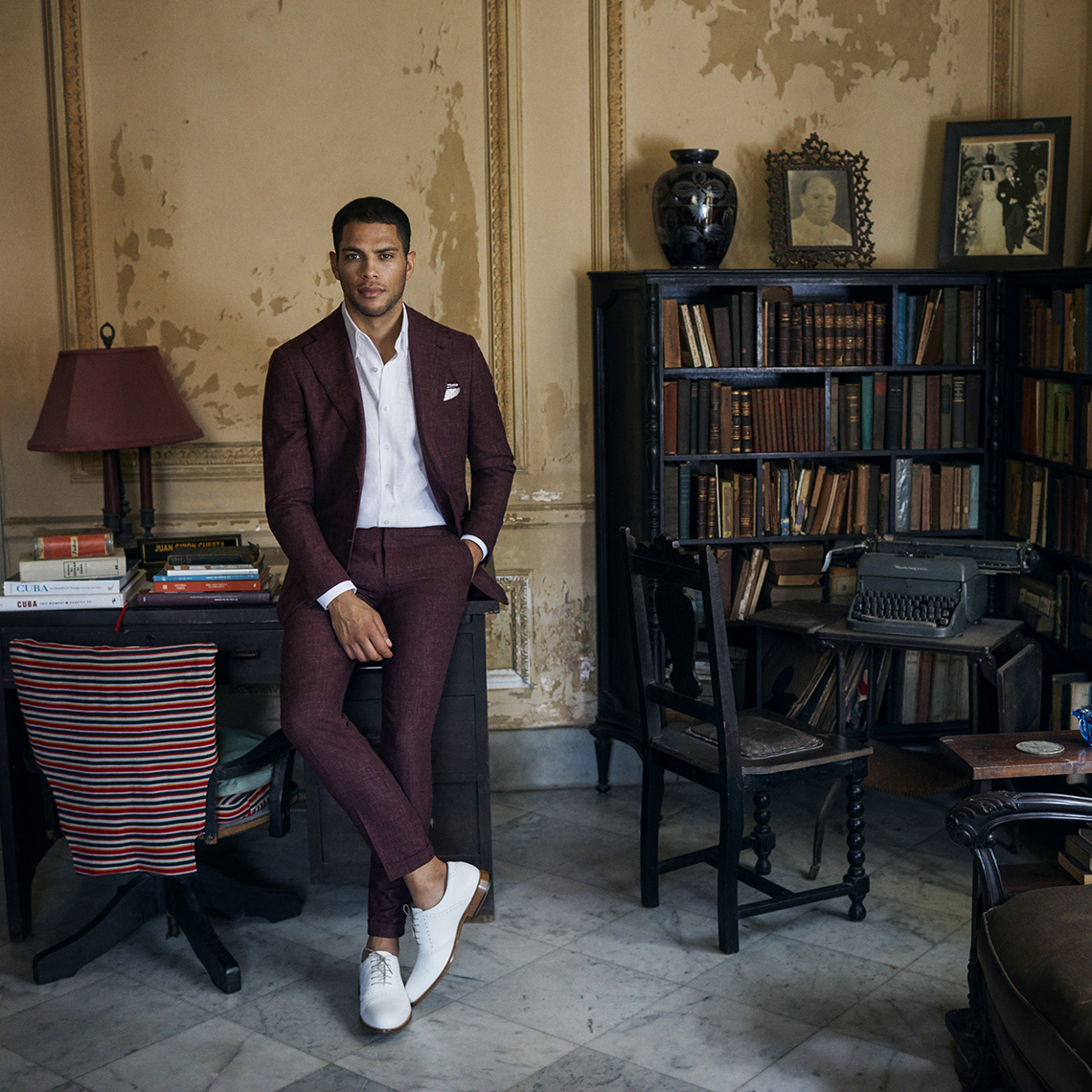 claret summer suit by clements and church