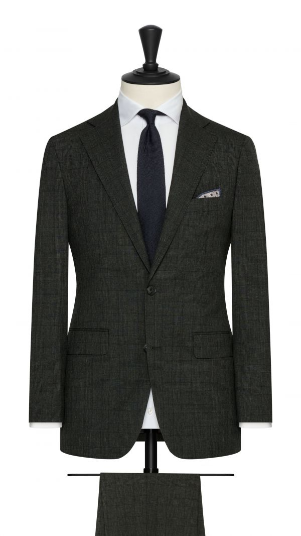 Forest Green Glen Check Suit