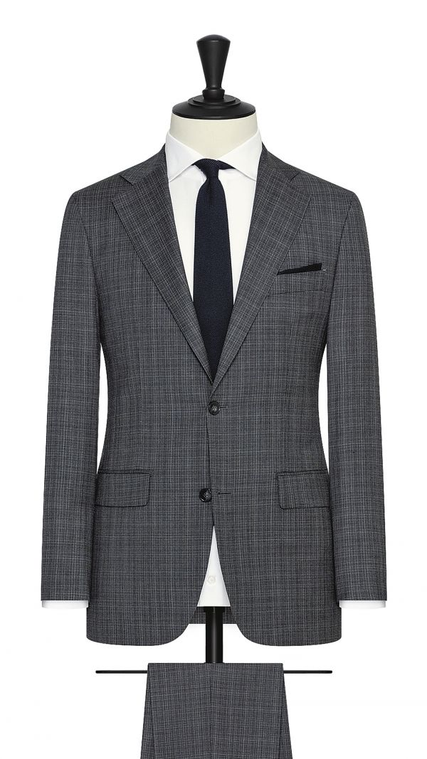 Black, White and Grey Textured Suit