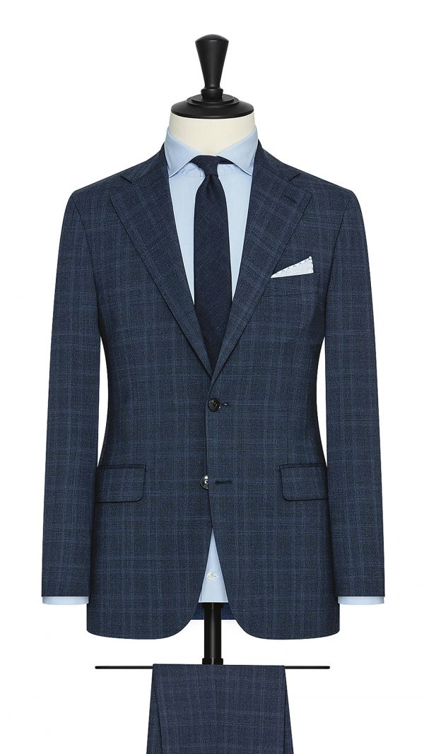Midnight Blue Glencheck Suit
