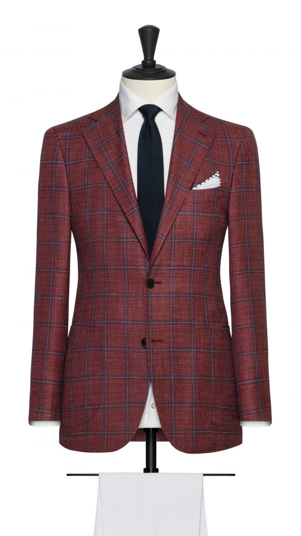 Red and Blue Check Jacket