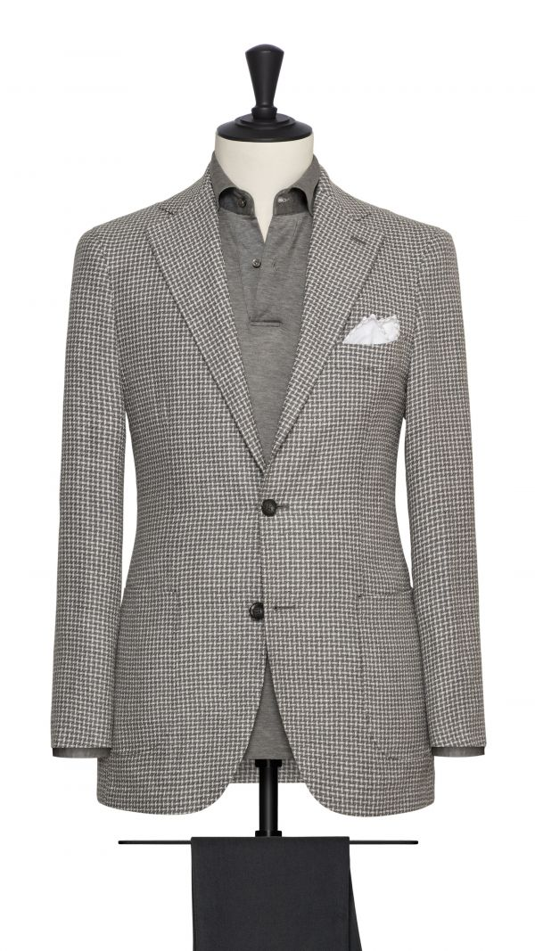 Grey and White Check Jacket