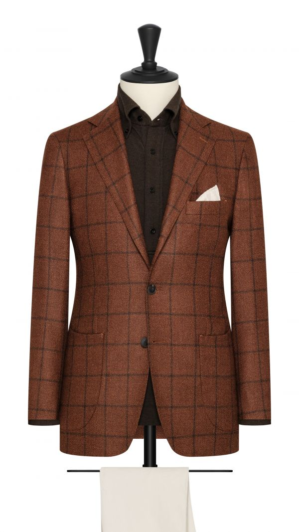 Orange and Black Check Jacket