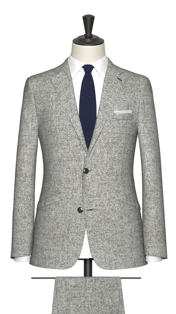 Grey Puppytooth Suit