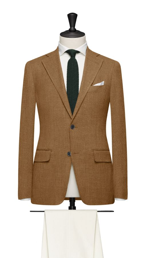 Brown Wool, Silk and Linen Jacket