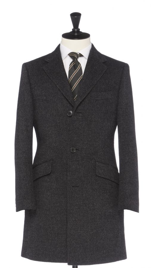 Grey Wool, Sillk and Cashmere Overcoat