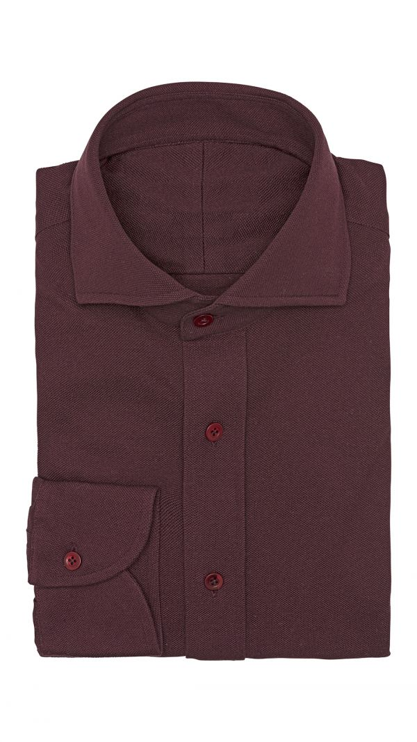 Burgundy Plain Shirt