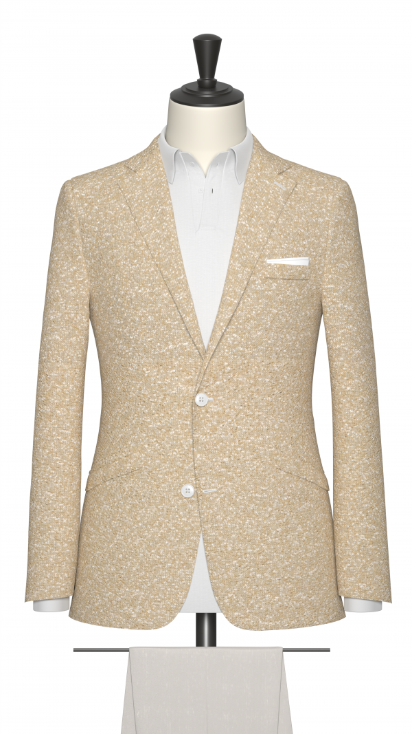 Brown and White Boucle Jacket